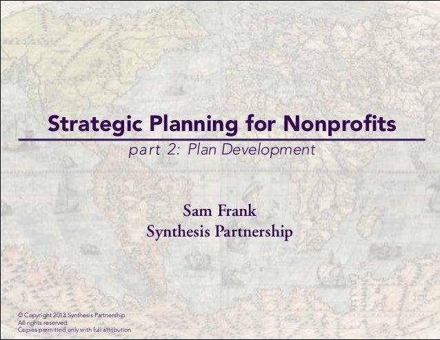 Strategic plan part 2