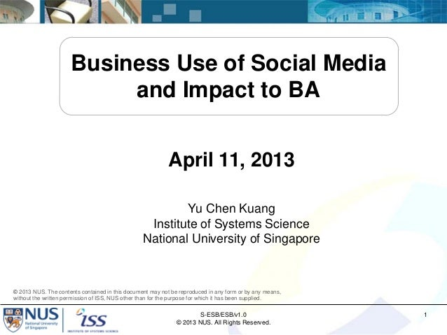 Business Use of Social Media                          and Impact to BA                                                    ...