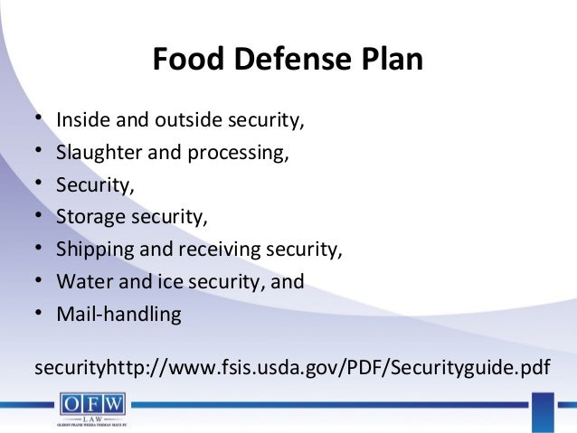 Food Defense Plan Example Quotes Of The Day
