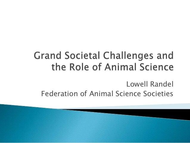 Lowell RandelFederation of Animal Science Societies