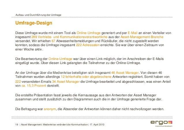 Aufbau und Durchführung der Umfrage  Umfrage-Design  Diese Umfrage wurde mit einem Tool als Online-Umfrage generiert und p...