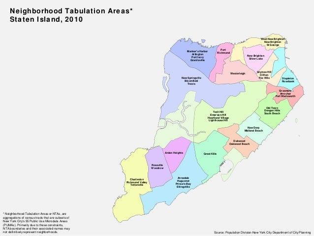 Staten Island Neighborhood Boundaries
