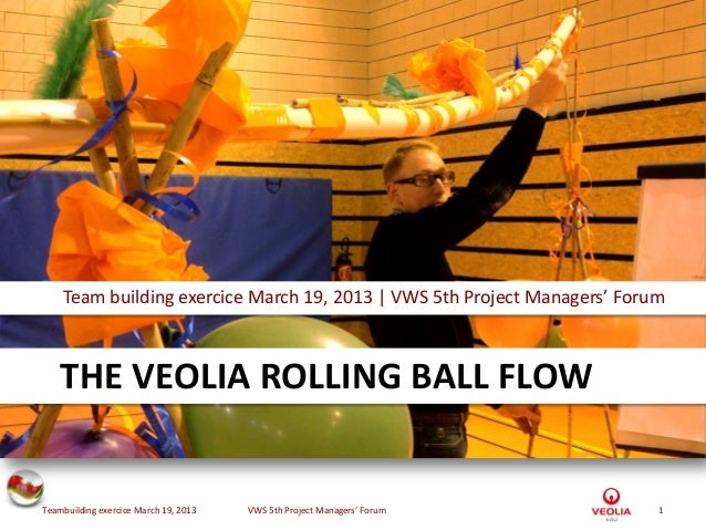 Team building exercice March 19, 2013 | VWS 5th Project Managers' Forum    THE VEOLIA ROLLING BALL FLOWTeambuilding exerci...