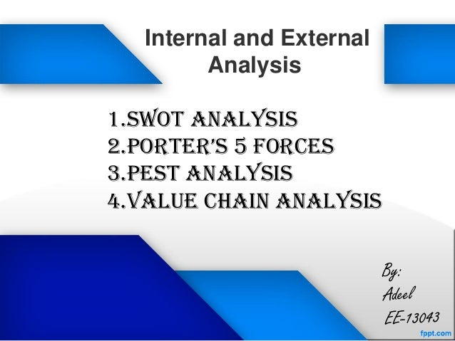 Pfizer internal and external analysis