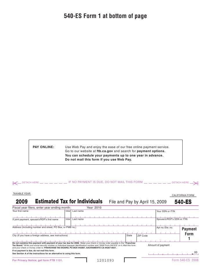 Ftb Forms 09540es
