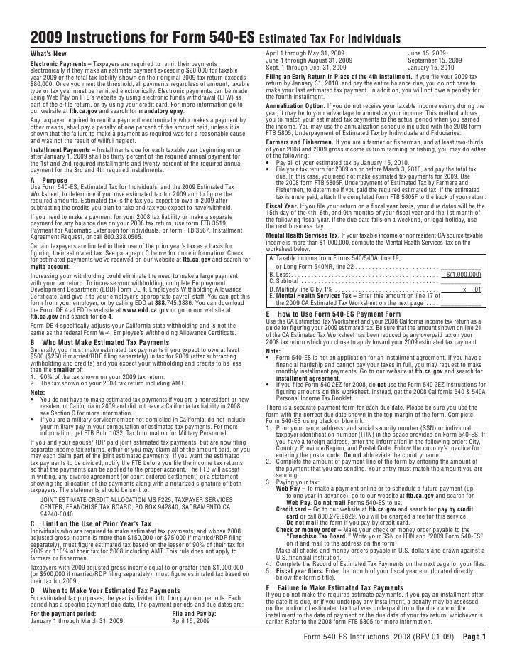 ftb.ca.gov forms 09_540esins
