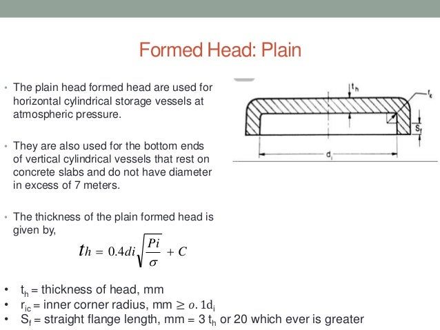 Design of End Closure in pressure vessel