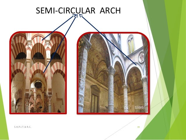 SEMI-CIRCULAR ARCH 39S.N.P.I.T.& R.C.