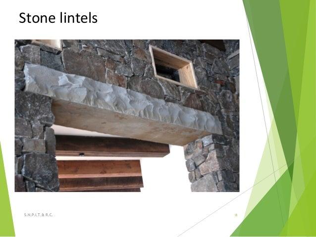 Stone lintels 8S.N.P.I.T.& R.C.