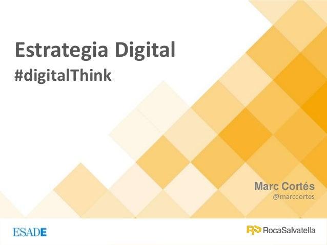 Marc Cortés @marccortes Estrategia Digital #digitalThink