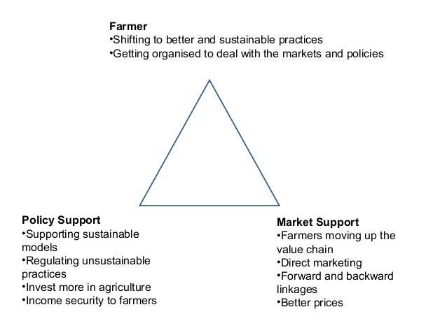 Strategies: Sustainability• Farmers Institutions: Program built through farmers institutionsand focus on building good gov...