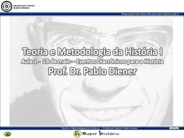 Organizado Pelo Aluno Ricardo Julio Jatahy Laub Jr. Teoria e Metodologia da História I - Professor Doutor Pablo Diener