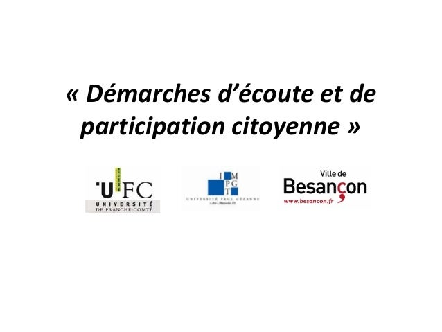 «Démarchesd'écouteetdeparticipationcitoyenne»