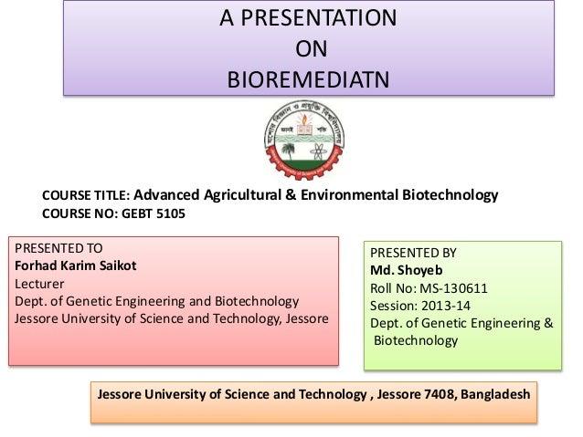 bioremediation advanced science technology