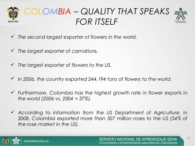 JOGUITOPAR FLORICULTURE IN COLOMBIA - Departments of colombia 2004