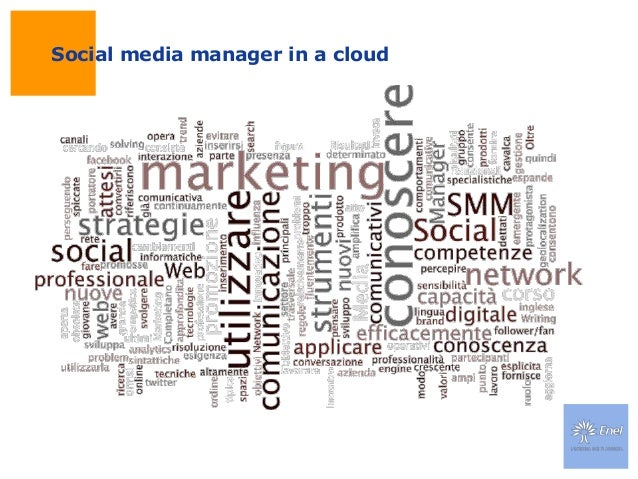 Social media manager in a cloud
