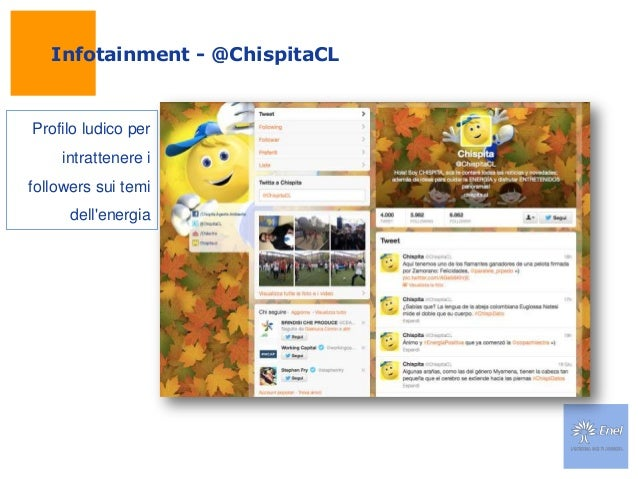 Infotainment - @ChispitaCLProfilo ludico perintrattenere ifollowers sui temidellenergia