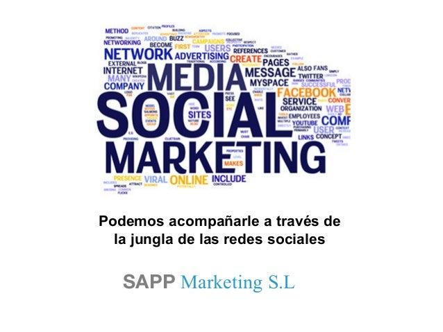 SAPP Marketing S.L Podemos acompañarle a través de la jungla de las redes sociales
