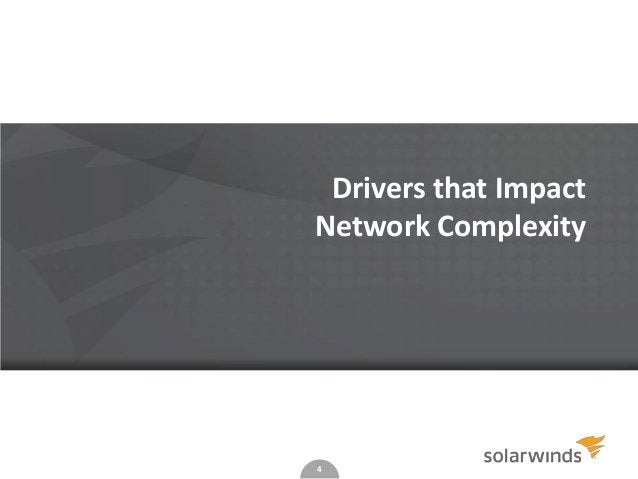 4 Drivers that Impact Network Complexity