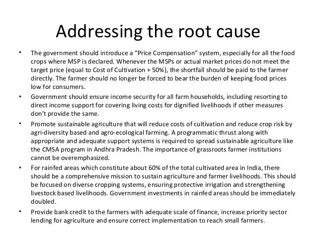 """Addressing the root cause • The government should introduce a """"Price Compensation"""" system, especially for all the food cro..."""