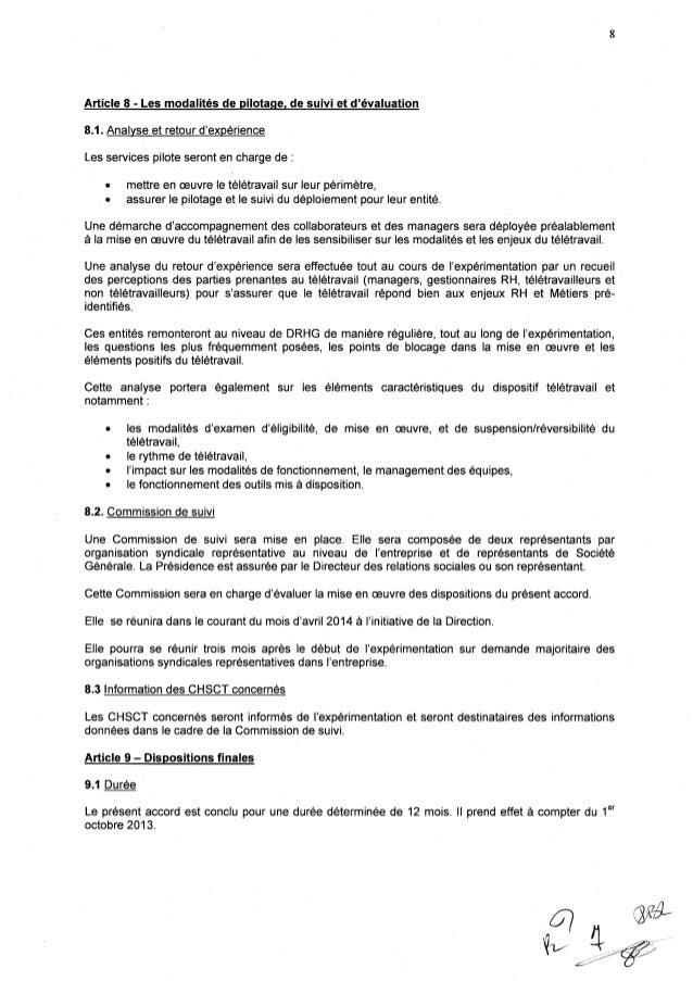 Société Générale : accord expérimental de télétravail