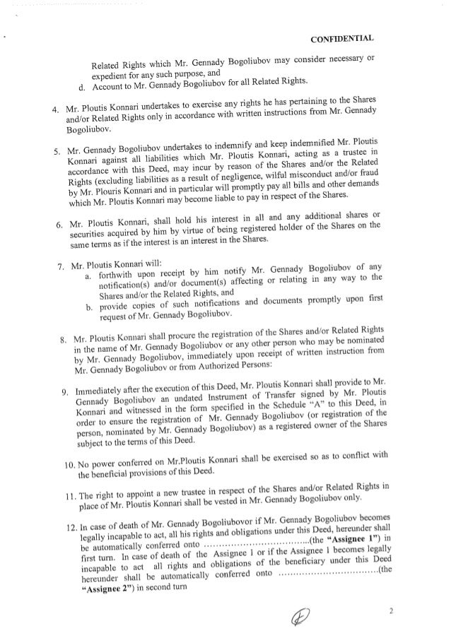 Deed Of Trust Gennady