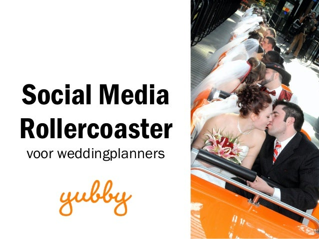 Social Media Rollercoaster voor weddingplanners