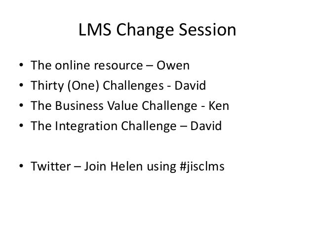 LMS Change Project Slide 3