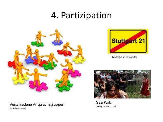4. Partizipation Verschiedene Anspruchsgruppen (in.kahootz.com) (wideblick.over-blog.de) Gezi Park (todayszaman.com)