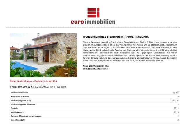 WUNDERSCHÖNES STEINHAUS MIT POOL - INSEL KRK Neues Steinhaus von 82 m2 auf einem Grundstück von 906 m2. Das Haus besteht a...