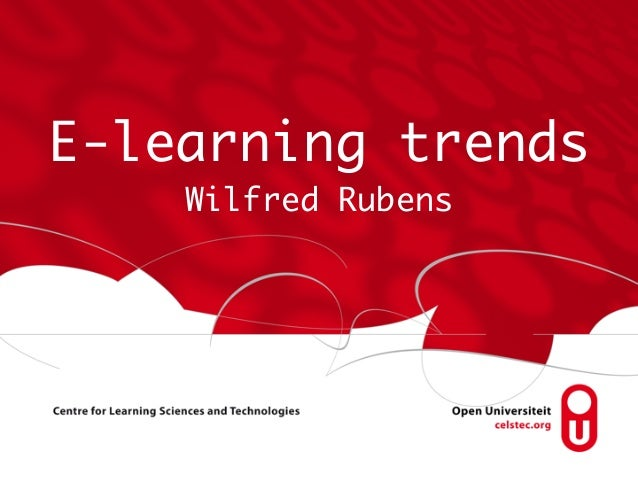 E-learning trends Wilfred Rubens