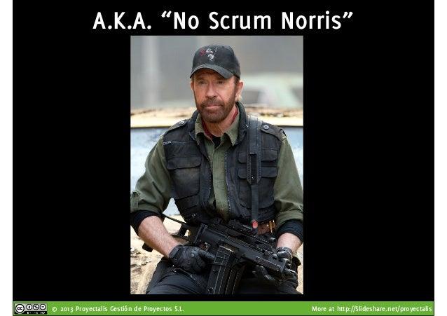 "© 2013 Proyectalis Gestión de Proyectos S.L. More at http://Slideshare.net/proyectalis A.K.A. ""No Scrum Norris"""