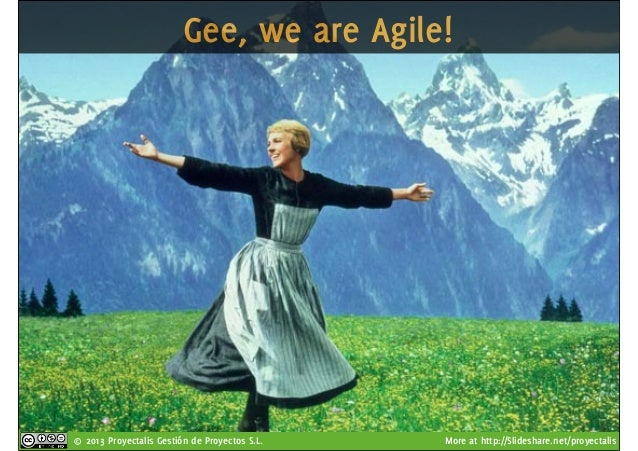 © 2013 Proyectalis Gestión de Proyectos S.L. More at http://Slideshare.net/proyectalis Gee, we are Agile!