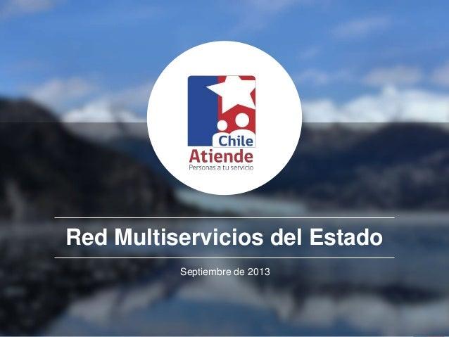 Red Multiservicios del Estado Septiembre de 2013
