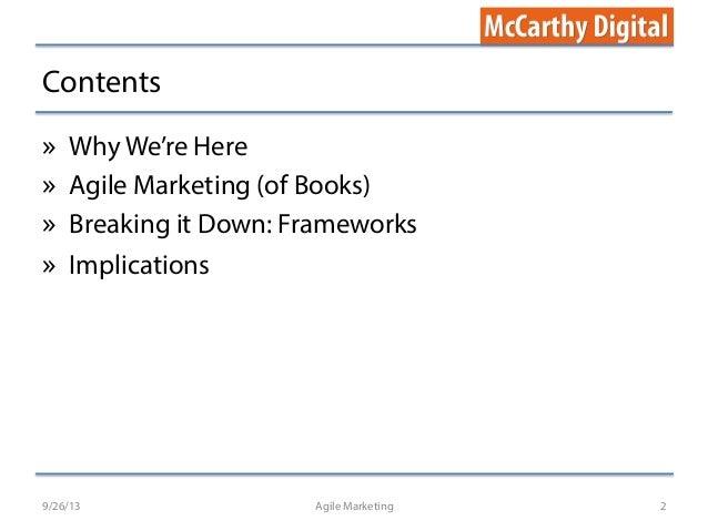 Agile Marketing (for books) Slide 2