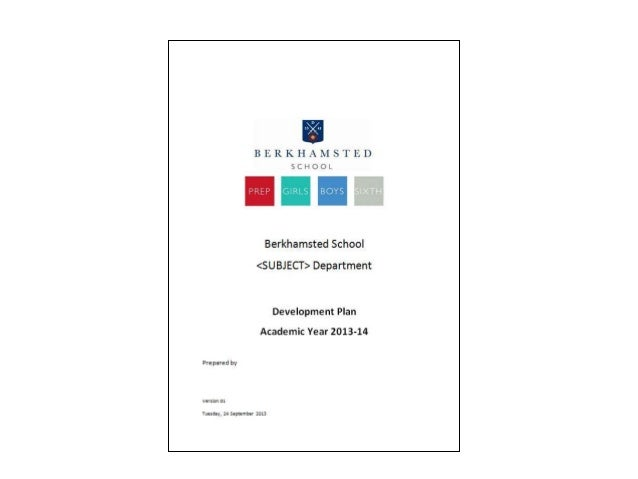 Heads of Department and School Development Planning