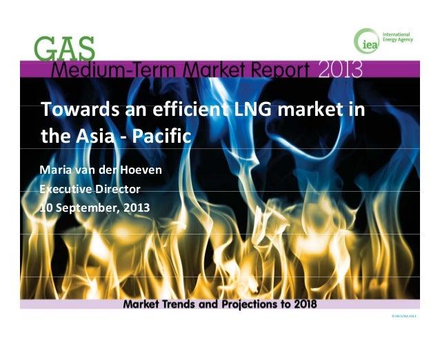 Towards an efficient LNG market inTowardsanefficientLNGmarketin theAsia‐ Pacific Mariavander Hoeven Executive Di...