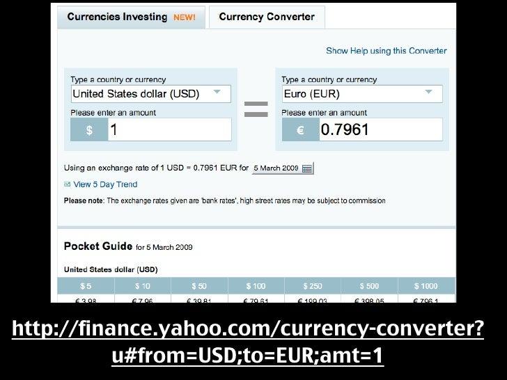 Yahoo finance forex converter