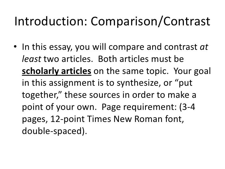 compare and contrast two articles on the same topic