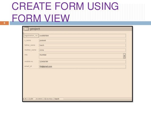 MS Access Create Tab & Form Group