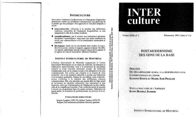 131 postmodernisme des gens de la base. esteva, prakash, sanders (document à télécharger en format pdf, 2,9 mb).