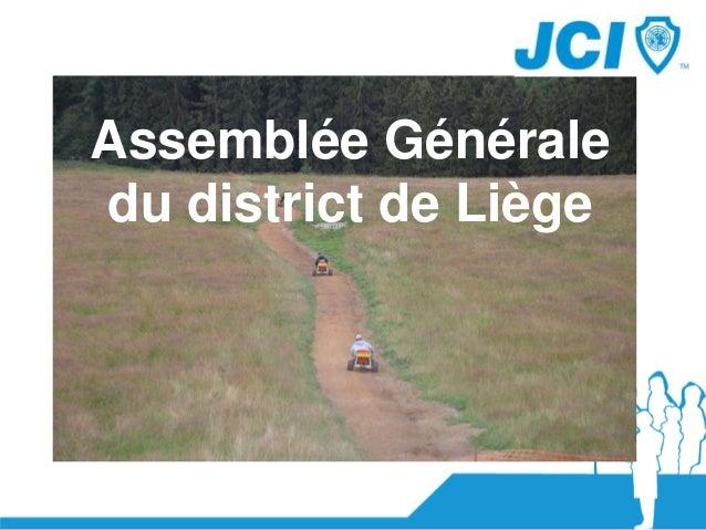 Assemblée Générale du district de Liège