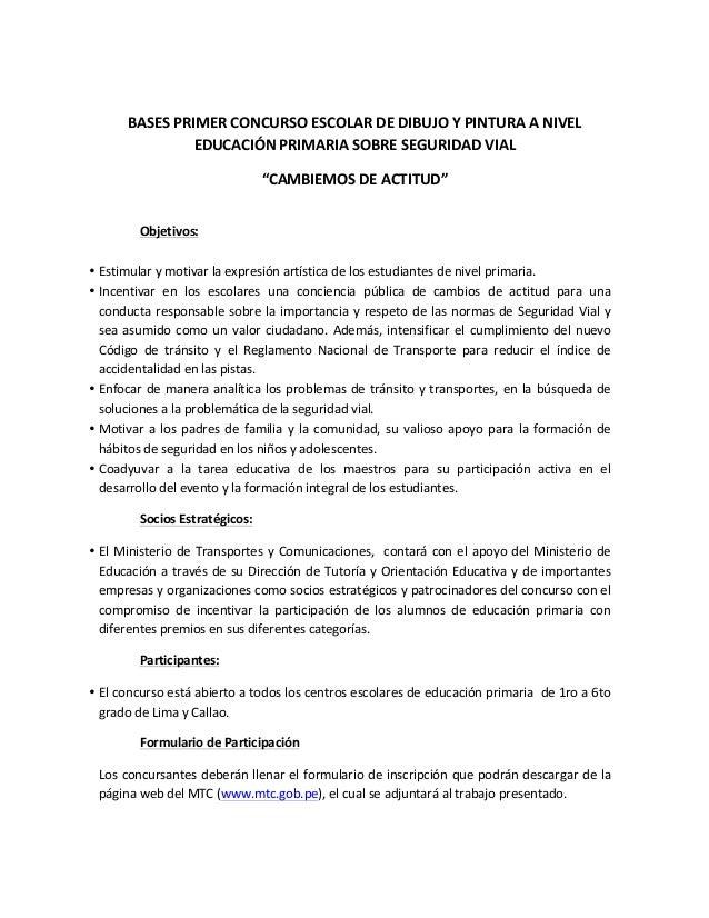 BASES  PRIMER  CONCURSO  ESCOLAR  DE  DIBUJO  Y  PINTURA  A  NIVEL   EDUCACIÓN  PRIMARIA  SOBRE  ...