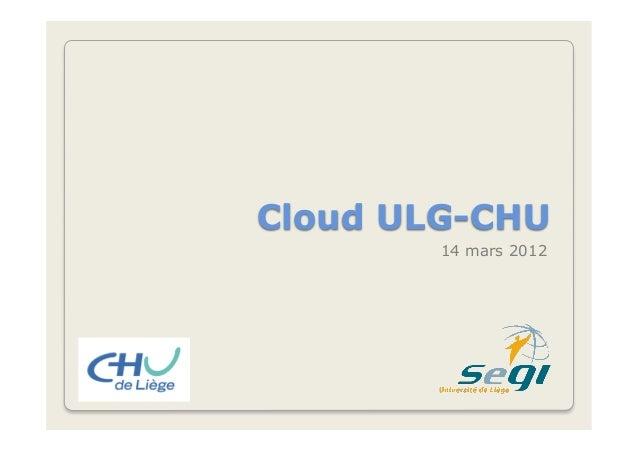 Cloud ULG-CHU 14 mars 2012