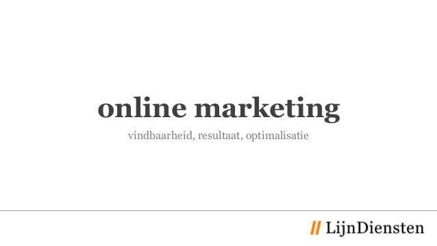 online marketing vindbaarheid, resultaat, optimalisatie