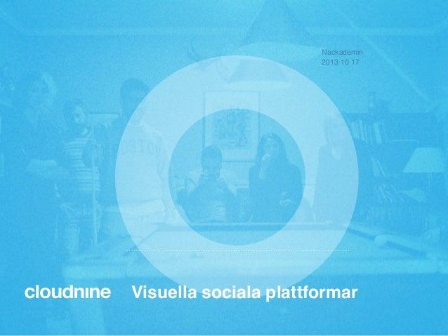 Nackademin! 2013 10 17!  Visuella sociala plattformar!