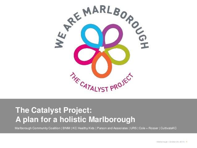 The Catalyst Project: A plan for a holistic Marlborough Marlborough Community Coalition   BNIM   KC Healthy Kids   Parson ...