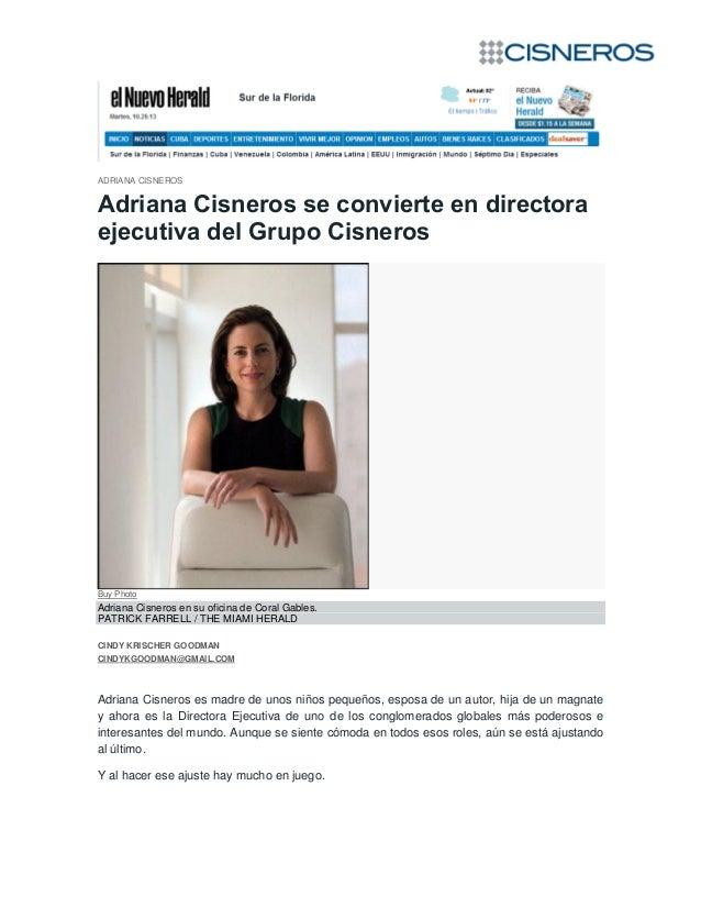 ADRIANA CISNEROS  Adriana Cisneros se convierte en directora ejecutiva del Grupo Cisneros  Buy Photo  Adriana Cisneros en ...