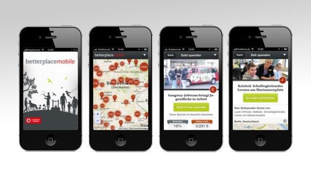 Till Behnke und Mark Speich: Geld- und Zeitspenden im mobilen Netz Slide 3