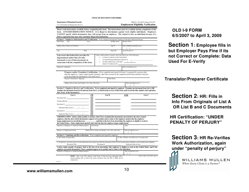 nuts and bolts: filling in the new i-9 form